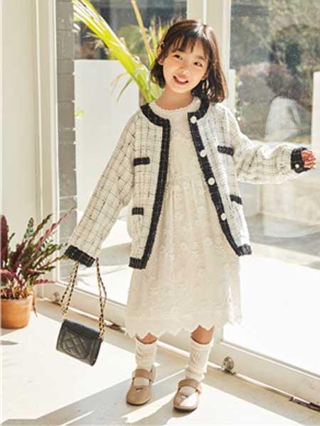 五岳童盟童装品牌2020春夏新款小香风时尚外套