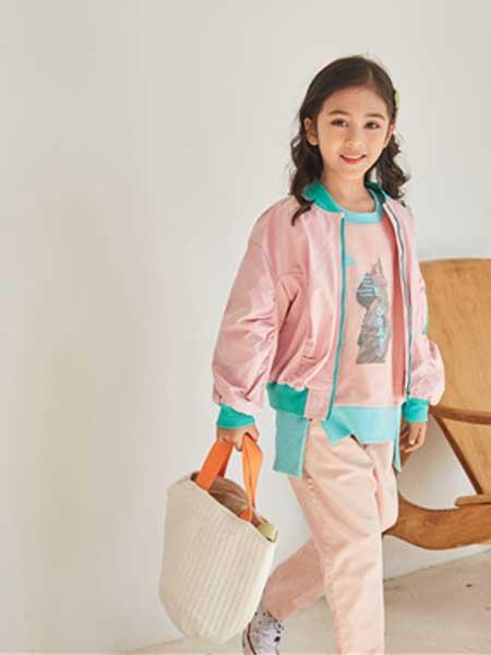 五岳童盟童装品牌2020春夏新款粉色夹克外套