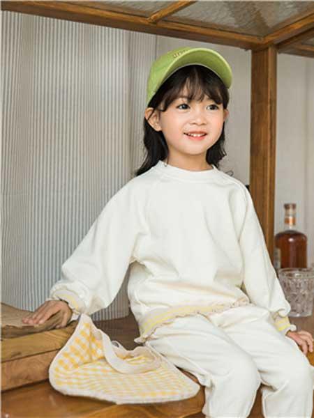 五岳童盟童装品牌2020春夏新款白色圆领卫衣
