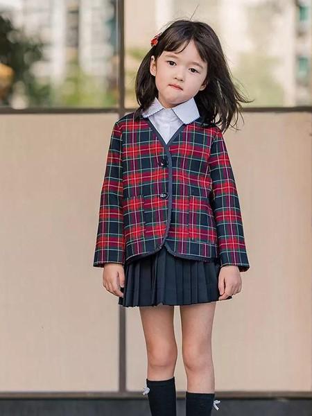 玲珑童装品牌2020秋冬简约格子外套