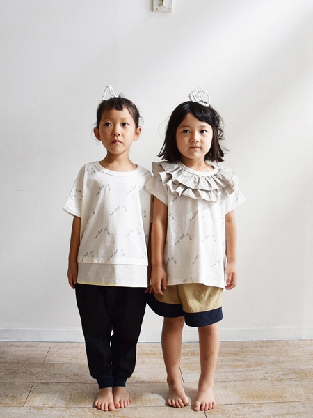Nunuforme童装品牌2020春夏棉麻娃娃衫短袖