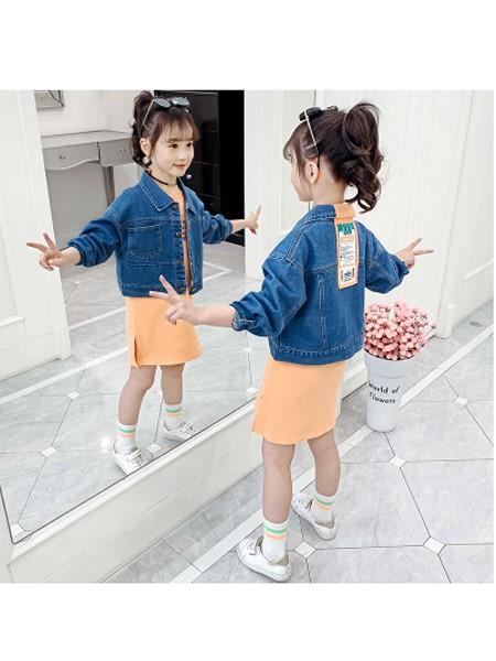 可哟咪童装品牌2020春夏休闲时尚牛仔外套