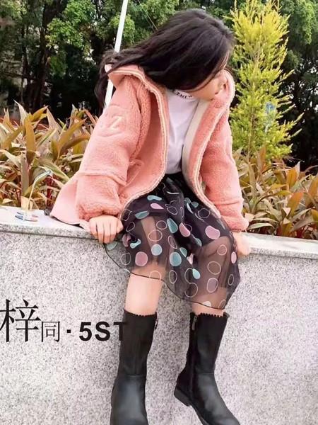 5ST童装品牌2019秋冬时尚羊羔毛外套