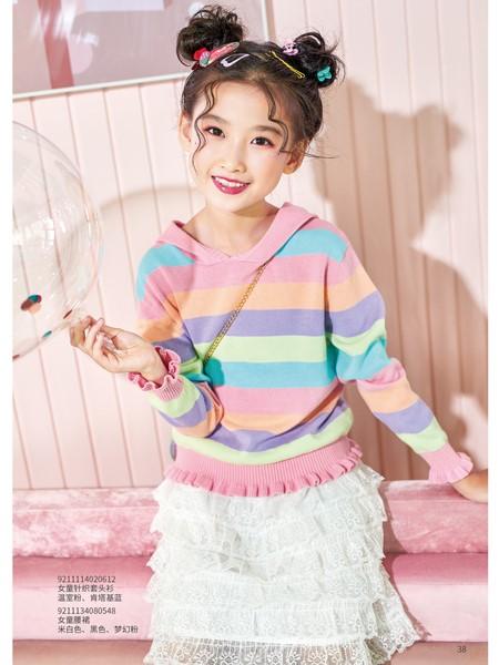 卡儿菲特童装品牌2020春夏彩虹色卫衣