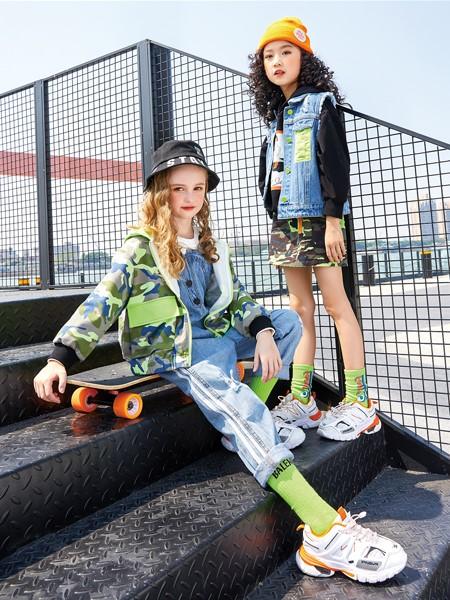 卡儿菲特童装品牌2020春夏休闲牛仔夹克