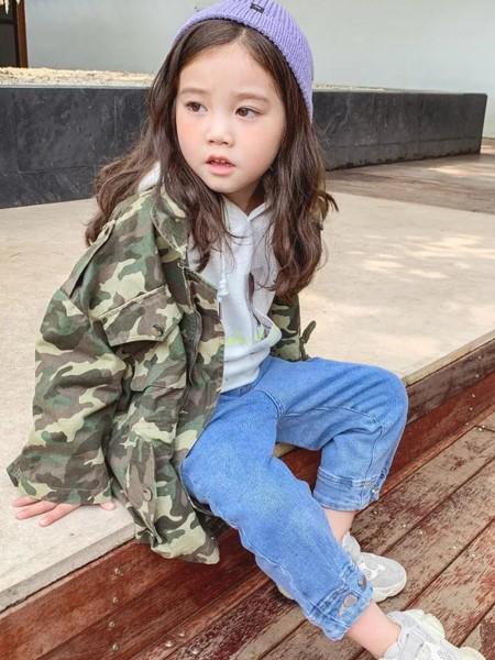 艾克米迪童装品牌2019秋冬迷彩夹克衫