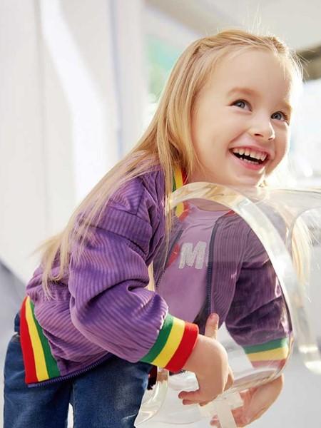 青蛙王子童装品牌2020春夏温暖紫色外套