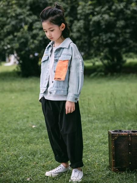 韩米娜风尚童装品牌2020春夏酷炫夹克衫