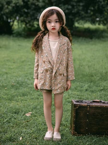 韩米娜风尚童装品牌2020春夏气质西装外套