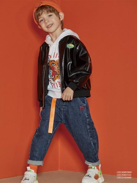 MQD童装品牌2020春夏休闲皮夹克
