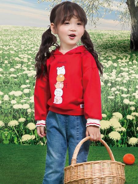 铅笔俱乐部童装品牌2020春夏红色连帽卫衣