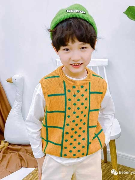 BEBER YOMi笔波优米童装品牌2020春夏纯色清新毛衣背心