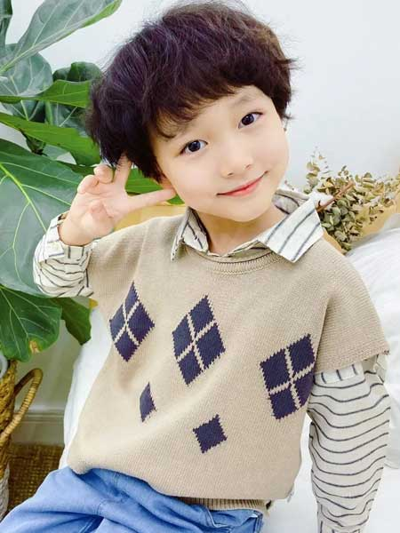 BEBER YOMi笔波优米童装品牌2020春夏纯色简洁毛衣背心