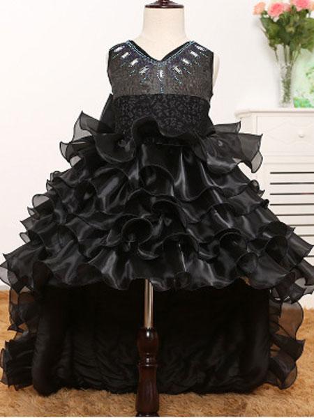 米朵朵童装品牌2020春夏新款童装婚纱公主裙女童背心网纱礼服花童蓬蓬表演连衣裙
