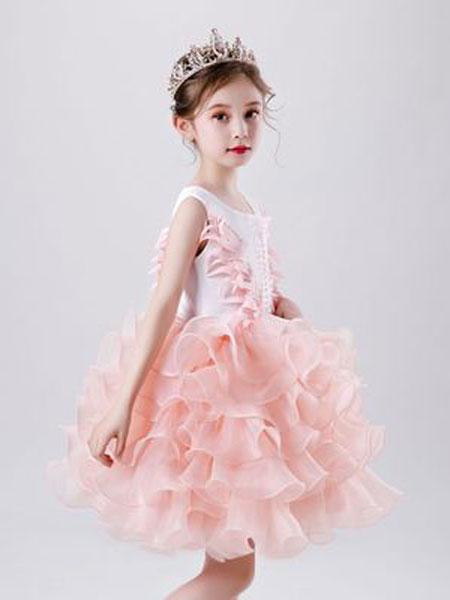 米朵朵童装品牌2020春夏新款童装连衣裙蓬蓬裙公主裙