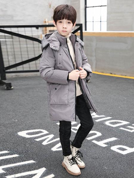 2019新款儿童棉衣韩版加厚中长中大款男童棉衣7-8-9-10岁儿童羽绒