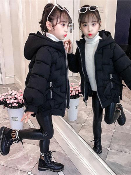 女童棉衣2019新款韩版童装棉服外套加厚宝宝棉衣女孩棉袄初阳