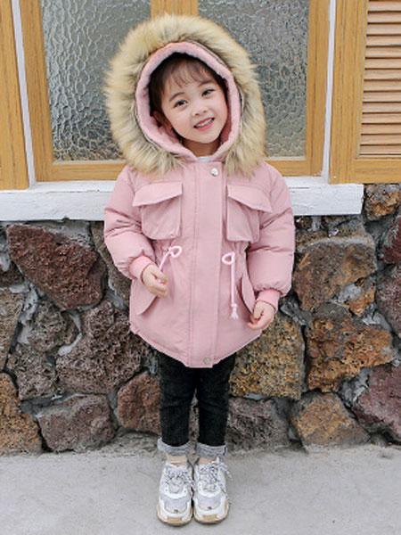 女童棉衣2019新款宝宝棉服加绒加棉加厚童棉衣韩版棉服