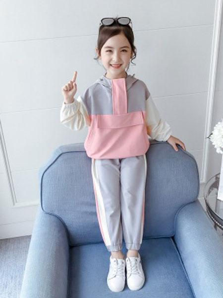 童装女童春秋装套装2019新款儿童洋气潮流两件套春秋季洋气小孩衣