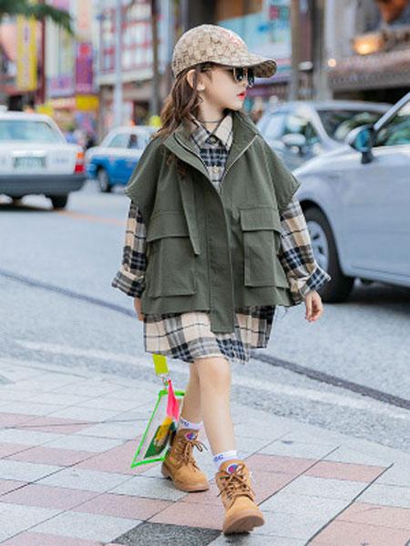 麦可思女童网红套装洋气2020年春装新款韩版时髦春儿童工装两件套