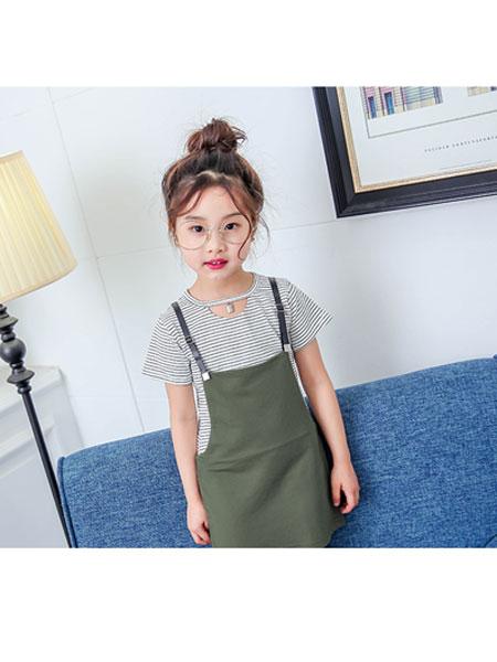 多美熊/大米熊童装品牌2020春夏新款女童连衣裙