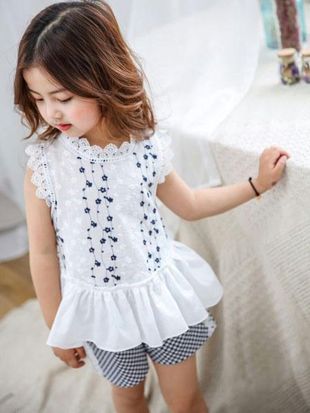 多美熊/大米熊童装品牌2020春夏新款女童格子套装