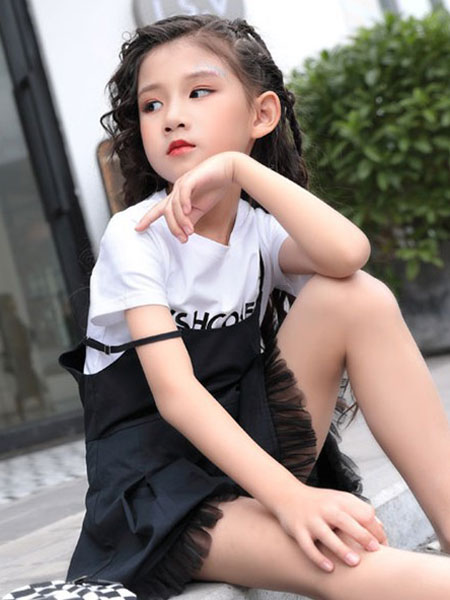 影尚可贝童装品牌2020春夏新款潮童吊带裙