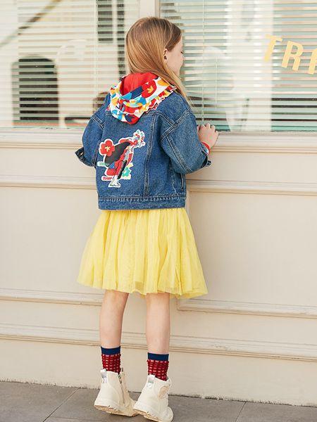 爱法贝童装品牌2020春夏新款牛仔外套