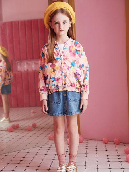 爱法贝童装品牌2020春夏新款印花夹克