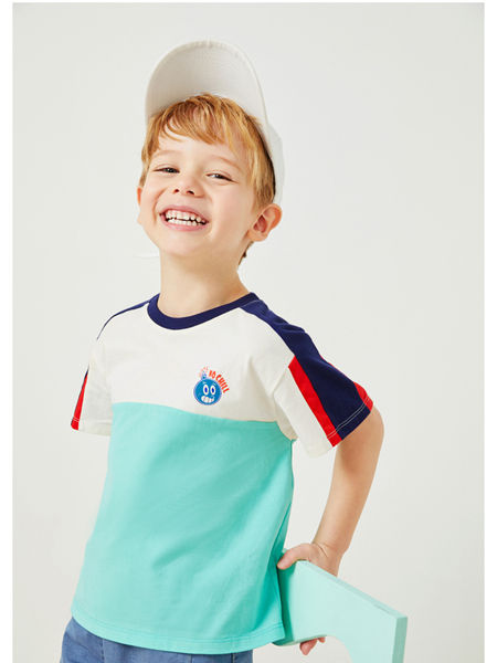 MQD童装品牌2020春夏新款撞色时尚T恤