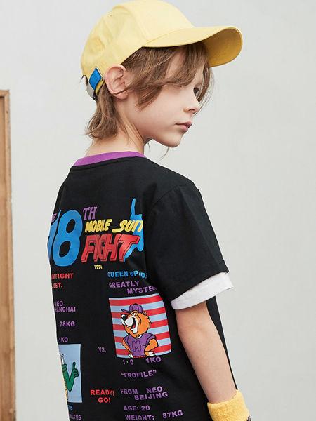 MQD童装品牌2020春夏新款印花T恤