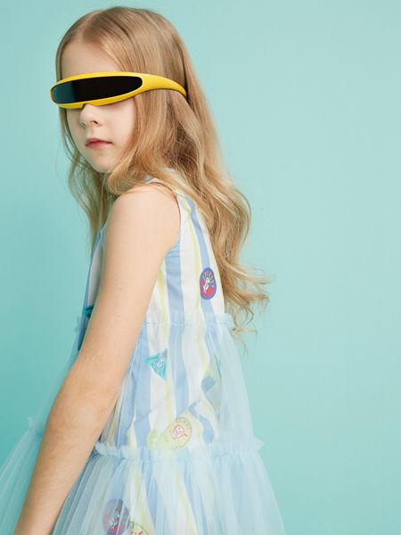 MQD童装品牌2020春夏新款轻纱连衣裙