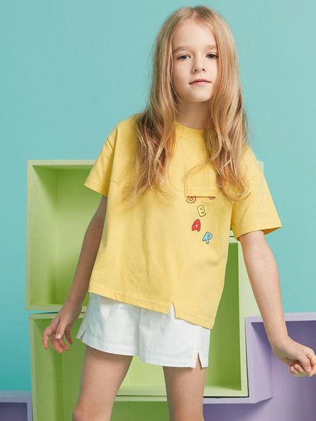 MQD童装品牌2020春夏新款黄色T恤