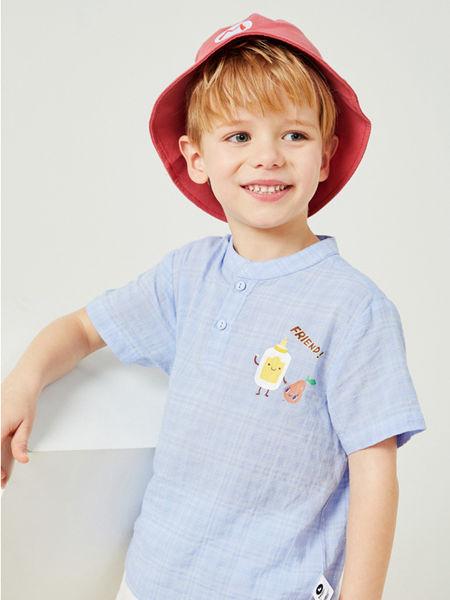 MQD童装品牌2020春夏新款蓝色T恤