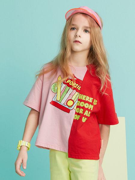 MQD童装品牌2020春夏新款不规则T恤