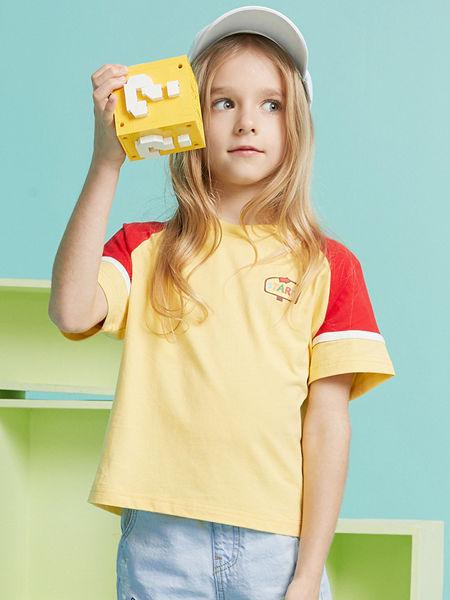 MQD童装品牌2020春夏新款粉色T恤