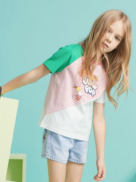 MQD童装品牌2020春夏新款拼接T恤