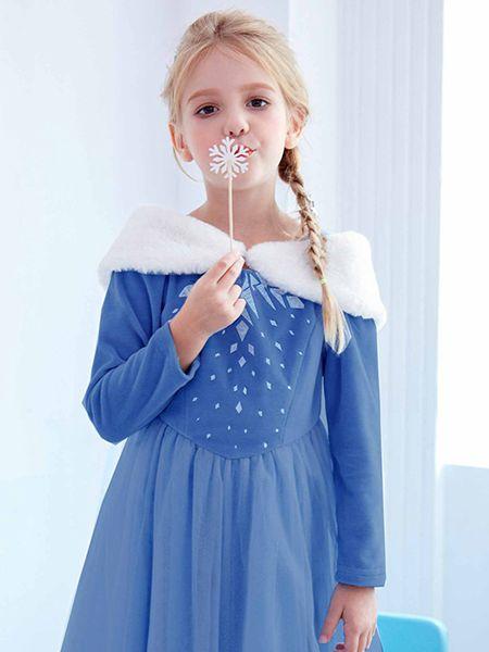 梦幻派对童装品牌2020春夏新款艾莎女王cos服装