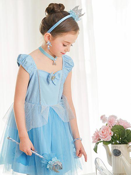 梦幻派对童装品牌2020春夏新款蓝色连衣裙cos服装