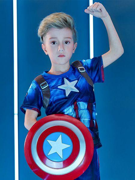 梦幻派对童装品牌2020春夏新款美国队长cos服装