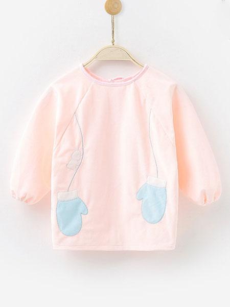 爱尼迪童装品牌2020春夏长袖防水男童女孩儿童围裙反穿衣护衣