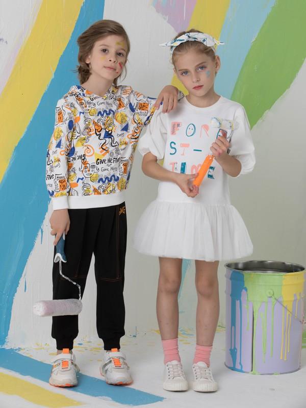 捷米梵童装品牌2020春夏新款纯色简洁连衣裙