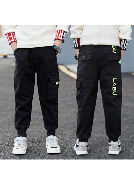 简潮童装品牌2020春夏新款春季韩版工装裤