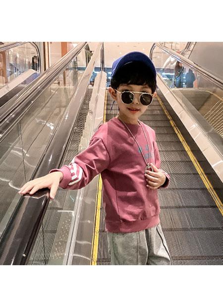 简潮童装品牌2020春夏新款洋气儿童卫衣打底衫T恤韩版街舞嘻哈风