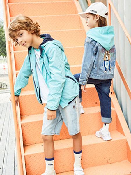 暇步士童装品牌2020春夏新款条纹团灭短袖上衣