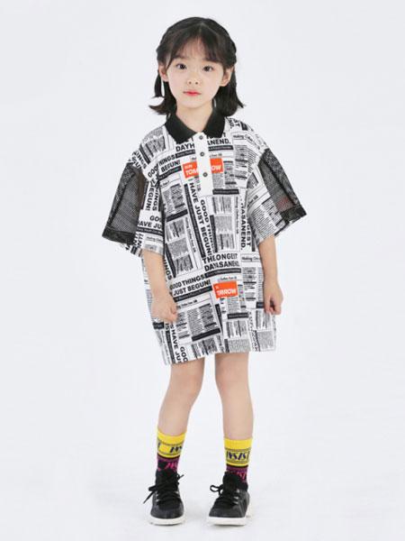Sun Tomorrow尚T童装品牌2020春夏新款涂鸦风格长款短袖上衣