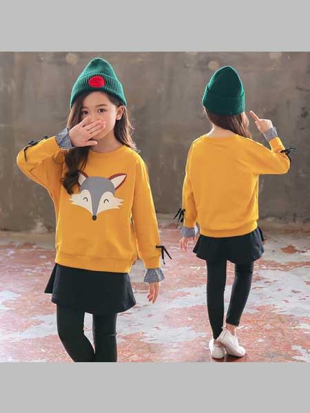 酷尔童年童装品牌2020春夏新款韩版狐狸套装