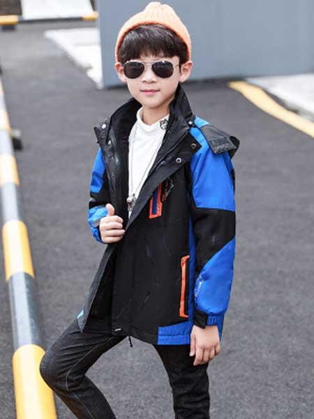 酷尔童年童装品牌2020春夏新款拼接色套装