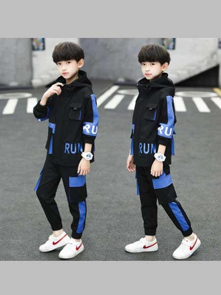 酷尔童年童装品牌2020春夏新款潮流运动套装