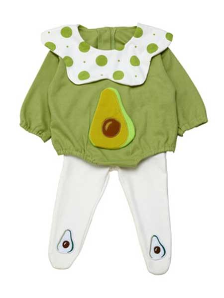 deermode童装品牌2020春夏新款男女童创意奇异果可爱爬服